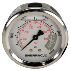 "Enerpac - G2537R - 2-1/2"" General Purpose Pressure Gauge, 0 to 10, 000 psi"