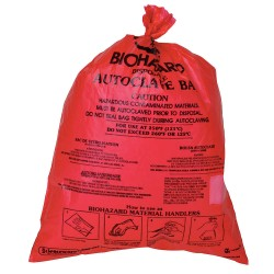 Bel-Art - 131660001 - Bag, Hdpe, Wr, Bench-top, Biohazard, 8-1/2x11