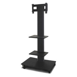Marvel Group - MVPFS3265DT-2 - TV/Monitor Stand, 36inWx24in.Dx65in.H, Blk