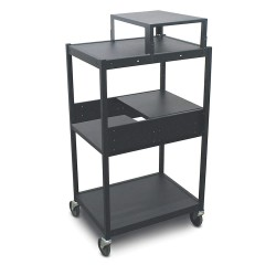 Marvel Group - MVBFES2418-02 - Cart, 24in.Wx18in.Dx49in.H, Mobile, Blk
