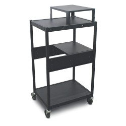 Marvel Group - MVBFES2418-01E - Cart, 24in.Wx18in.Dx49in.H, Steel, Blk