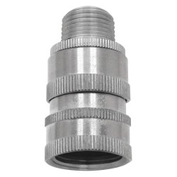 Columbia Sanitary Products - N18S - Stainless Steel Hose Adapter, For Use With Nozzles and Hose