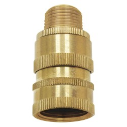 Columbia Sanitary Products - N23 - Brass Hose Adapter, For Use With Nozzles and Hose