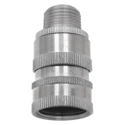 Columbia Sanitary Products - N23S - Stainless Steel Hose Adapter, For Use With Nozzles and Hose