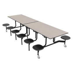 Palmer Hamilton - 59TV13293012-S12 - 12-Seat Rectangle Mobile Stool Table, Gray Glace, 29 Height x 144 Width
