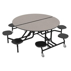 Palmer Hamilton - 59T122960RD-S8 - 8-Seat Round Mobile Stool Table, Gray Glace, 29 Height, Dia: 60