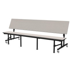Palmer Hamilton - 34M13291508 - 6-Seat Rectangle Mobile Bench Table, Gray Glace, 25 Height x 96 Width