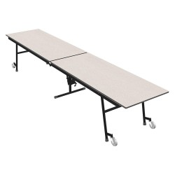 Palmer Hamilton - 23M15293012 - 10-Seat Rectangle Mobile Cafeteria Table, Gray Glace, 29 Height x 144 Width