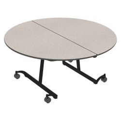 Palmer Hamilton - 22MT132960RD-MT - 8-Seat Round Mobile Cafeteria Table, Gray Glace, 29 Height, Dia: 60