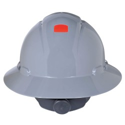 3M - H-808V-UV - Full Brim Hard Hat, 4 pt. Ratchet Suspension, Gray, Hat Size: 6-5/8 to 7-3/4