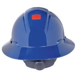 3M - H-810V-UV - Full Brim Hard Hat, 4 pt. Ratchet Suspension, Navy, Hat Size: 6-5/8 to 7-3/4