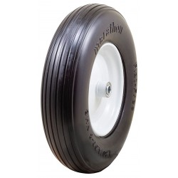 Other - 00065 - 15-3/8 Light-Medium Duty Ribbed Tread Solid Wheel, 500 lb. Load Rating