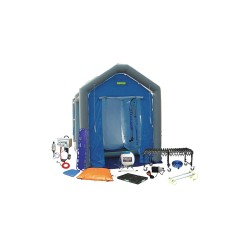 FSI North America - DAT2525S-SYS-NL - Decontamination Shower, Blue, 96 in. L
