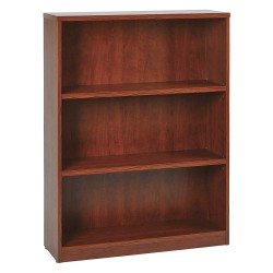 Office Star Products - LBC361248CHY - OSP Furniture Multipurpose Laminate Bookcase - 48 Height x 36 Width x 12 Depth - Cherry - Particleboard, Polyvinyl Chloride (PVC) - 1Each