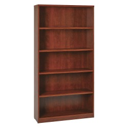 Office Star Products - LBC361272CHY - OSP Furniture Multipurpose Laminate Bookcase - 72 Height x 36 Width x 12 Depth - Cherry - Particleboard, Polyvinyl Chloride (PVC) - 1Each