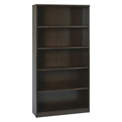 Office Star Products - LBC361272ESP - OSP Furniture Multipurpose Laminate Bookcase - 72 Height x 36 Width x 12 Depth - Espresso - Particleboard, Polyvinyl Chloride (PVC) - 1Each