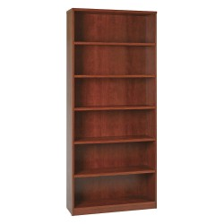Office Star Products - LBC361284MAH - OSP Furniture Multipurpose Laminate Bookcase - 84 Height x 36 Width x 12 Depth - Mahogany - Particleboard, Polyvinyl Chloride (PVC) - 1Each