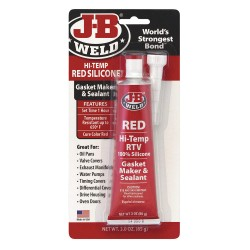 J-B Weld - 31314 - Red Sealant, Silicone, 3.0 oz. Tube