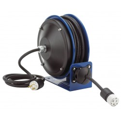 Coxreels / Coxwells - PC10-3012-F - 120VAC Heavy Industrial Compact Retractable Cord Reel; Number of Outlets: 2, Cord Included: Yes