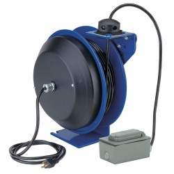 Coxreels / Coxwells - PC13-5016-F - 120VAC Heavy Industrial Retractable Cord Reel; Number of Outlets: 2, Cord Included: Yes