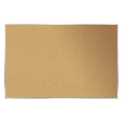 Ghent - 06620 - Natural Cork/Fiberboard Bulletin Board, Wood Frame Material, 96-1/2 Width, 48-1/2 Height