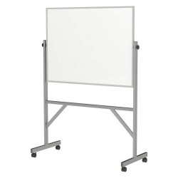 Ghent - ARMM34 - Gloss-Finish Melamine Dry Erase Board, Mobile/Casters, 78-1/4H x 53-1/4W, White
