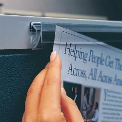 Ghent - H60-6 - 60 Vinyl Display Rail, Clear, 6 PK