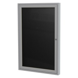 Ghent - PA13624BXBK - Ghent Outdoor Letterboards - 24 Height x 36 Width - Weather Resistant, Shatter Resistant, Lock, Water Resistant, Mounting System - Silver Aluminum Frame - 1 Each