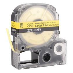 K-Sun - 203STBYPX - 1/8W Black on Yellow Polyolefin Heat Shrink Tube