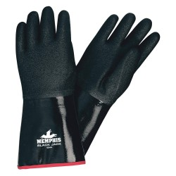 Memphis Glove - 6944 - Neoprene Chemical Resistant Gloves, Standard Weight Thickness, Foam Lining, Size L, Black, PR 1