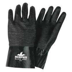 Memphis Glove - 6932 - Neoprene Chemical Resistant Gloves, Standard Weight Thickness, Interlock Lining, Size L, Black