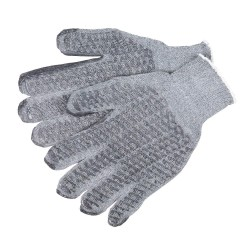 Memphis Glove - 9676LM - Large Heavyweight Cottonpolyester Glove Gray Ho