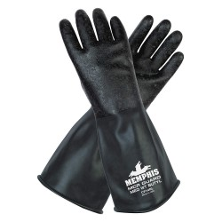 Memphis Glove - CP14RS - Butyl Chemical Resistant Gloves, 14 mil Thickness, Unlined Lining, Size S, Black, PR 1