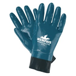 Memphis Glove - 9786M - Nitrile Chemical Resistant Gloves, 15 mil Thickness, Interlock Lining, Size M, Blue, PK 12