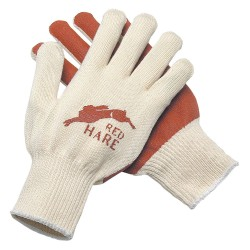 Memphis Glove - 9670S - 10 Gauge Flat Nitrile Coated Gloves, Size S, Natural/Red