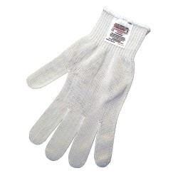 Memphis Glove - 9356M - Uncoated Cut Resistant Gloves, ANSI/ISEA Cut Level 4, Steelcore Lining, White, M, EA 1