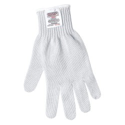 Memphis Glove - 9350XL - Uncoated Cut Resistant Gloves, ANSI/ISEA Cut Level 5, Steelcore Lining, White, XL, EA 1