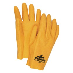 Memphis Glove - 9890L - Textured PVC Coated Gloves, Size L, Yellow