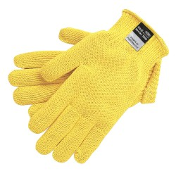 Memphis Glove - 9375L - Uncoated Cut Resistant Gloves, ANSI/ISEA Cut Level 3, Kevlar® Lining, Yellow, L, PK 12