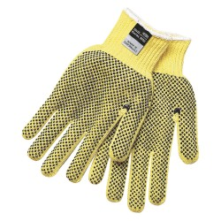 Memphis Glove - 9366M - PVC Cut Resistant Gloves, ANSI/ISEA Cut Level 3, Kevlar® Lining, Yellow/Black, M, PK 12