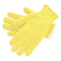 Memphis Glove - 9362L - Uncoated Cut Resistant Gloves, ANSI/ISEA Cut Level 2, Kevlar®/Cotton Lining, Yellow, L, PK 12