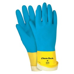 Memphis Glove - 5407S - Small Blue Neoprene Overyellow Latex 28mil