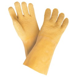 Memphis Glove - 6845 - Latex Chemical Resistant Gloves, Standard Weight Thickness, Interlock Lining, Size L, Yellow, PR 1