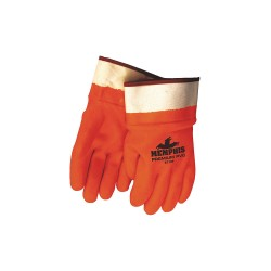 Memphis Glove - 6710F - Fluorescent Pvc Gloves Foam Lined Fully Coate