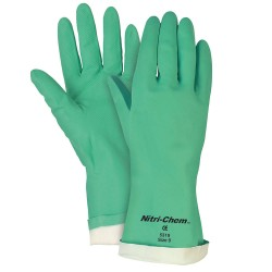 Memphis Glove - 5317 - Nitrile Chemical Resistant Gloves, 15 mil Thickness, Flock Lining, Size S, Green, PR 1