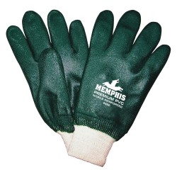 Memphis Glove - 6400 - Premium Green Double Dipped Pvc Knit Wrist-