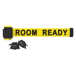 Banner Stakes - MH7011 - Magnetic Retractable Belt Barrier, Yellow, Room Ready