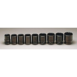 Wright Tool - 603 - 3/4 SAE Black Oxide Impact Socket Set, Number of Pieces: 9