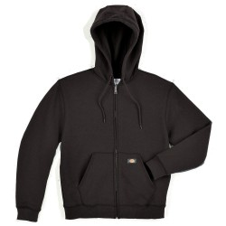 Dickies - TW391BK XL TL - Hooded Sweatshirt, Zip Front, Black, XLT
