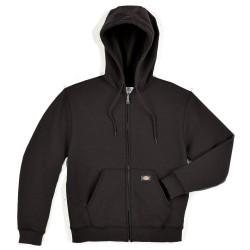 Dickies - TW391BK 3X RG - Hooded Sweatshirt, Zip Front, Black, 3XL